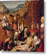 Mourning Over The Dead Body Of Christ Metal Print