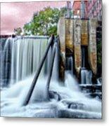 Mousam River Waterfall In Kennebunk Maine Metal Print