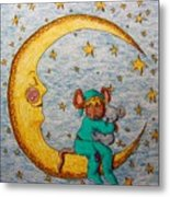 Mouse On The Moon Metal Print