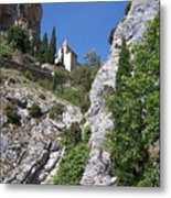 Moustier St. Marie Church Metal Print