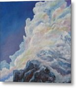 Moutain In The Clouds Metal Print