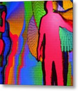 Human Movement In Color Metal Print