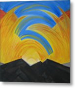 Movement Of A Sunset Metal Print