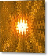 Moveonart Abstract Retro Light Action 2 Metal Print