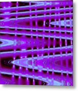 Moveonart Abstract Waves And Light Seven Metal Print