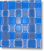 Moveonart  Blue Bricks Metal Print