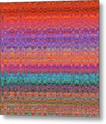 Moveonart Future Indian Voice Wave Quilt Metal Print