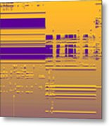 Moveonart Gold Data Metal Print