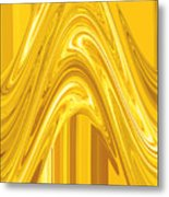 Moveonart Golden Light Wave Metal Print