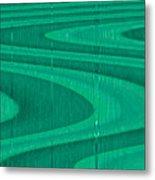Moveonart Green Pathways 1 Metal Print