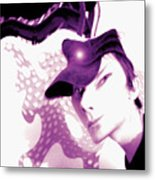 Moveonart Jacob In His Underground Art Gallery Metal Print