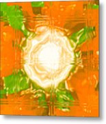 Moveonart Joy With Light In Orange Metal Print