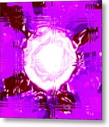 Moveonart Light Saturation With Pink Metal Print
