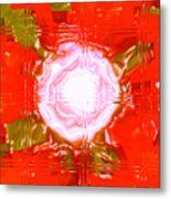 Moveonart Light Saturation With Red Metal Print