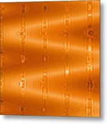 Moveonart Movement In Orange Metal Print