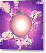 Moveonart Oh Is That So    Violet Metal Print