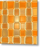 Moveonart Orange Bricks Metal Print