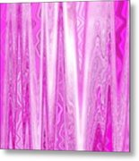 Moveonart Pink Dream Frequency Metal Print