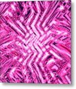 Moveonart Pink Shock Metal Print