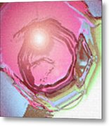 Moveonart Renewing  Mind Clear Thought Therapy   Red Metal Print