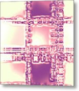 Moveonart Thoughtful Intersections Metal Print