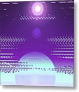 Moveonart Violet Light Of Charitable Consciousness Metal Print