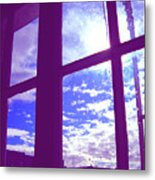 Moveonart Window Watching Series 4 Metal Print