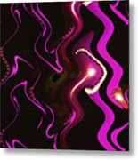 Moveonart Word Of Light Speak Out   One Metal Print