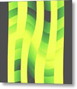 Moveonart Yellowlimegreenwave Metal Print