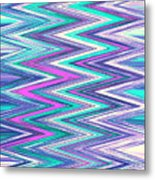 Moveonart Zig Zag Therapy One Metal Print