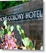 Movie Colony Hotel Palm Springs Metal Print