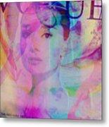 Movie Icons - Audrey Hepburn Vi Metal Print
