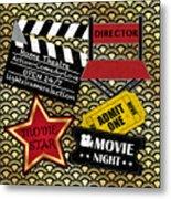 Movie Night-jp3613 Metal Print