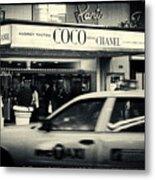 Movie Theatre Paris In New York City Metal Print by Sabine Jacobs