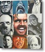 Movie Villians Metal Print