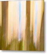 Moving Trees 15 Gold Brown Metal Print
