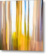 Moving Trees II Saturated Metal Print