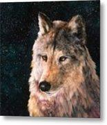 Moving Wolf Metal Print