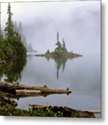 Mowich Lake In Fog  Metal Print