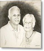 Mr And Mrs B Metal Print