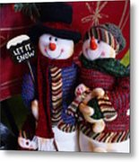 Mr. And  Mrs. Claus Metal Print