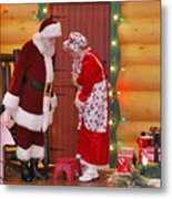 Mr And Mrs S Claus Metal Print
