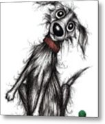 Mr Bark The Noisy Dog Metal Print
