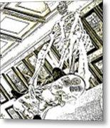 Mr Bones In Black And White With Sepia Tones Metal Print