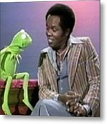 Mr Lou Rawls - Kermit The Frog Metal Print