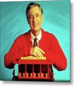 Mr Rogers With Trolley Metal Print