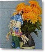 Mr Scarecrow Metal Print