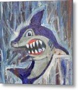 Mr. Shark Metal Print