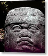 Mr Stone Head Metal Print