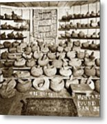 Mrs. Butts Mortar And Pestle Collection Found In San Benito Co. Metal Print